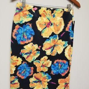 Rafaella bold vivid floral skirt NWT size S